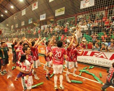 Festa pela conquista da Libertadores em 2014