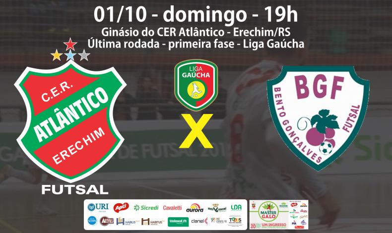 CONVITE  JOGO 01 OUTUBRO - Atlãntico x Bento - Liga Gaúcha FINAL convite face