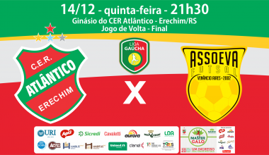 CONVITE EVENTO FACE  JOGO ATLÂNTICO X ASSOEVA - 14 DEZEMBRO - FINAL LIGA GAÚCHA
